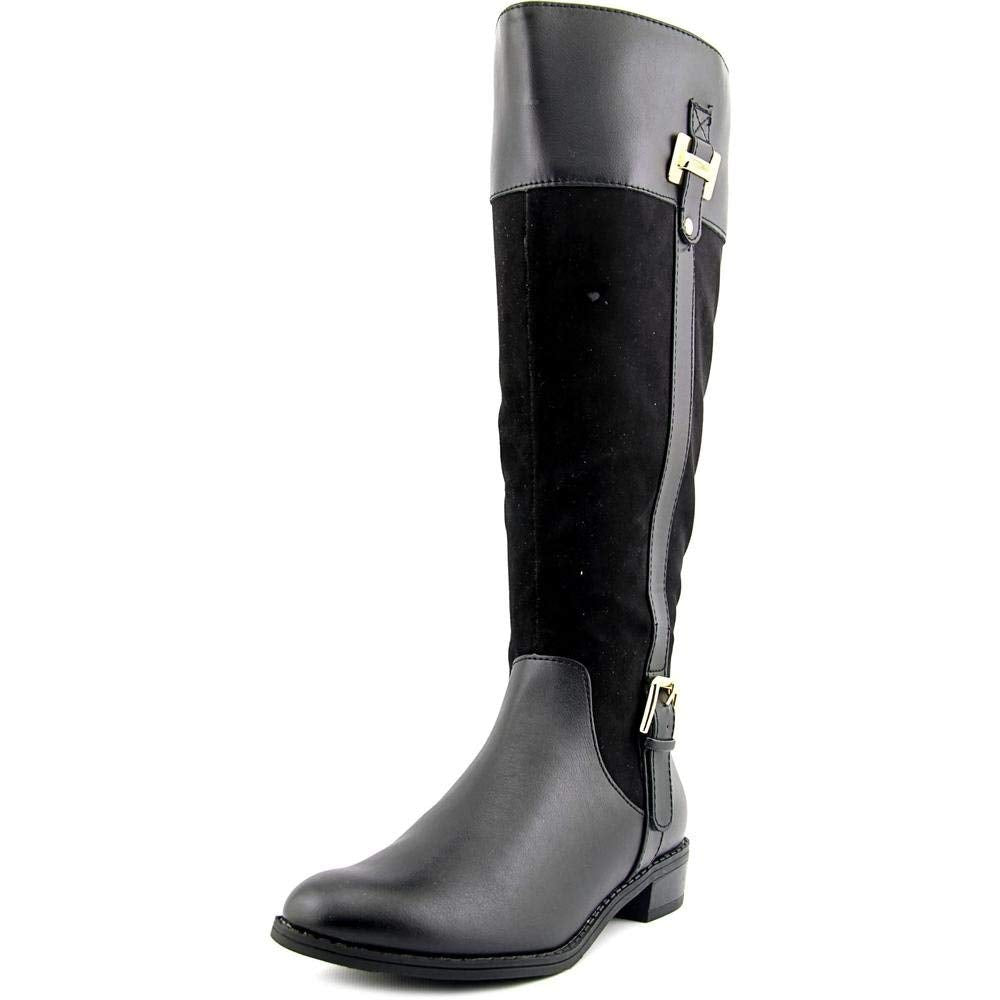 Karen Scott Womens Deliee Wide Calf Knee High Leather Riding Boots, Black,7M