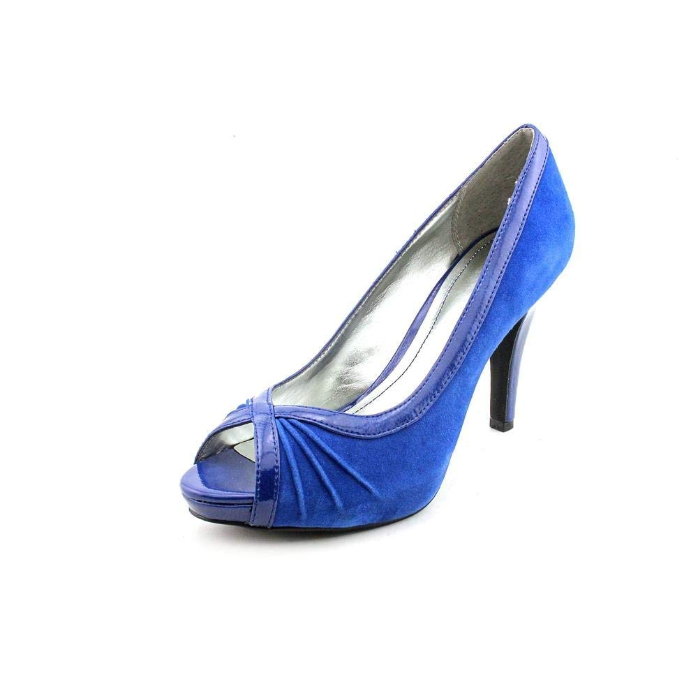 Style & Co Spicey Womens Size 10 Blue Open Toe Pumps Heels Shoes