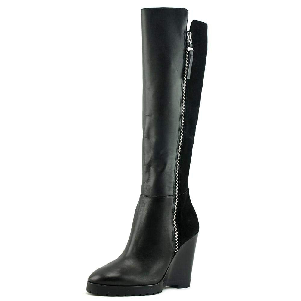 MICHAEL Michael Kors Womens Clara Leather Wedge Knee-High Boots