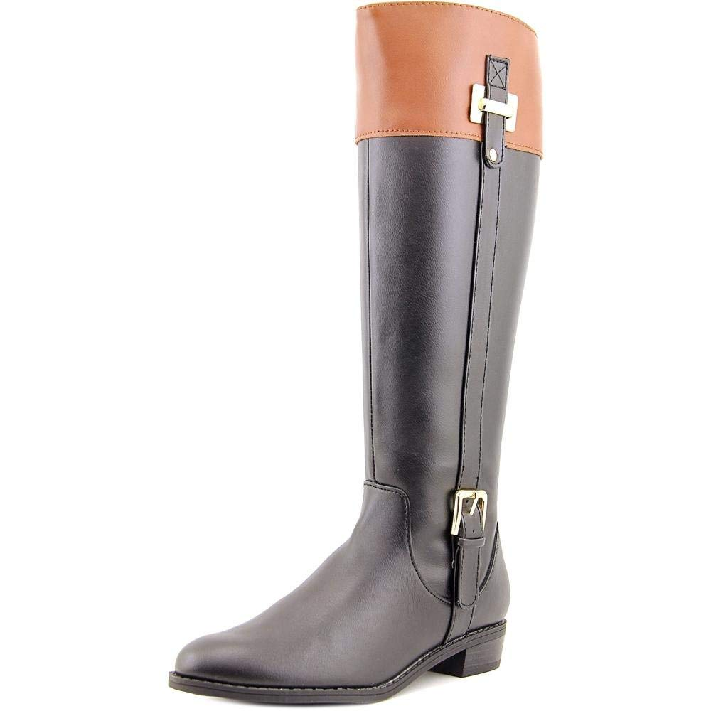 Karen Scott Womens Deliee Faux Leather Colorblock Riding Boots