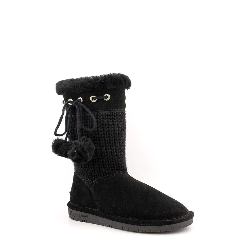 Bearpaw Women's 'Raina' Knitted Wool Boot in Black 5