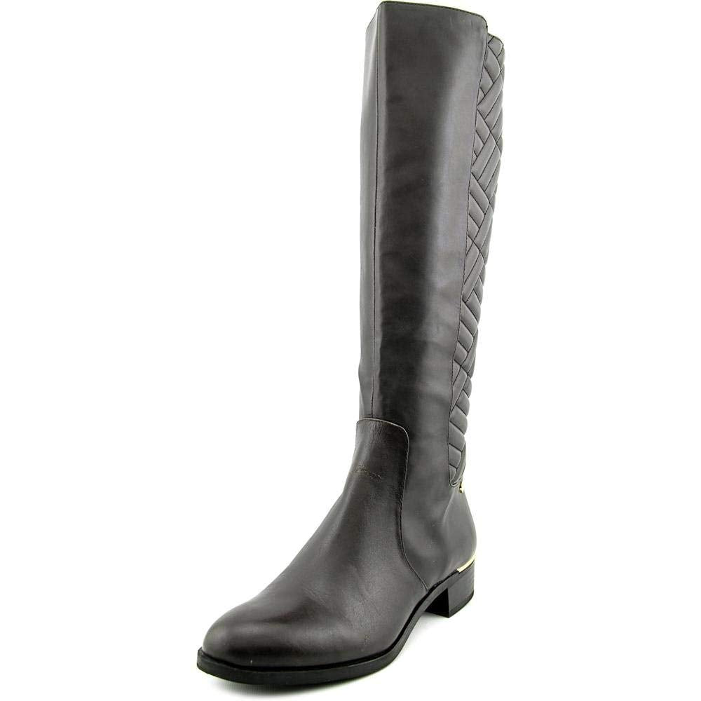 Calvin Klein Womens Garcella Leather Almond Toe Knee High Riding Boots