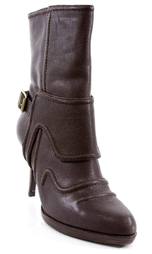 Juicy Couture Women's Galley Boot (8.5, Dark Brown)