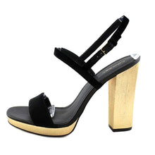 Calvin Klein Womens Bambii Leather Open Toe Casual Slingback Sandals