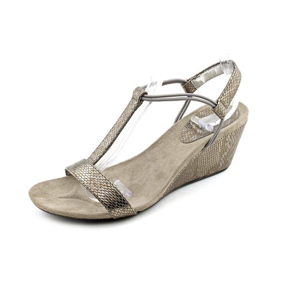Style & Co. Women's Shoe Mulan Wedge Sandals in New Pewter Size 5.5