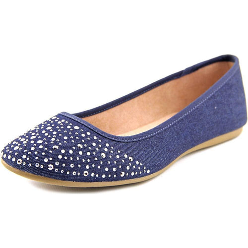 Style & Co. Womens Angelynn Closed Toe Slide Flats, Indigo, Size 10.0