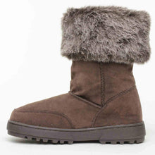 Rampage Women's Allie Faux Shearling Boot,Brown Faux Suede,5 M US