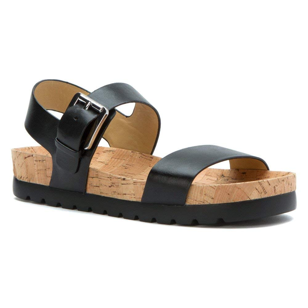 Michael Kors Judie Flatform Treaded Sandals Black