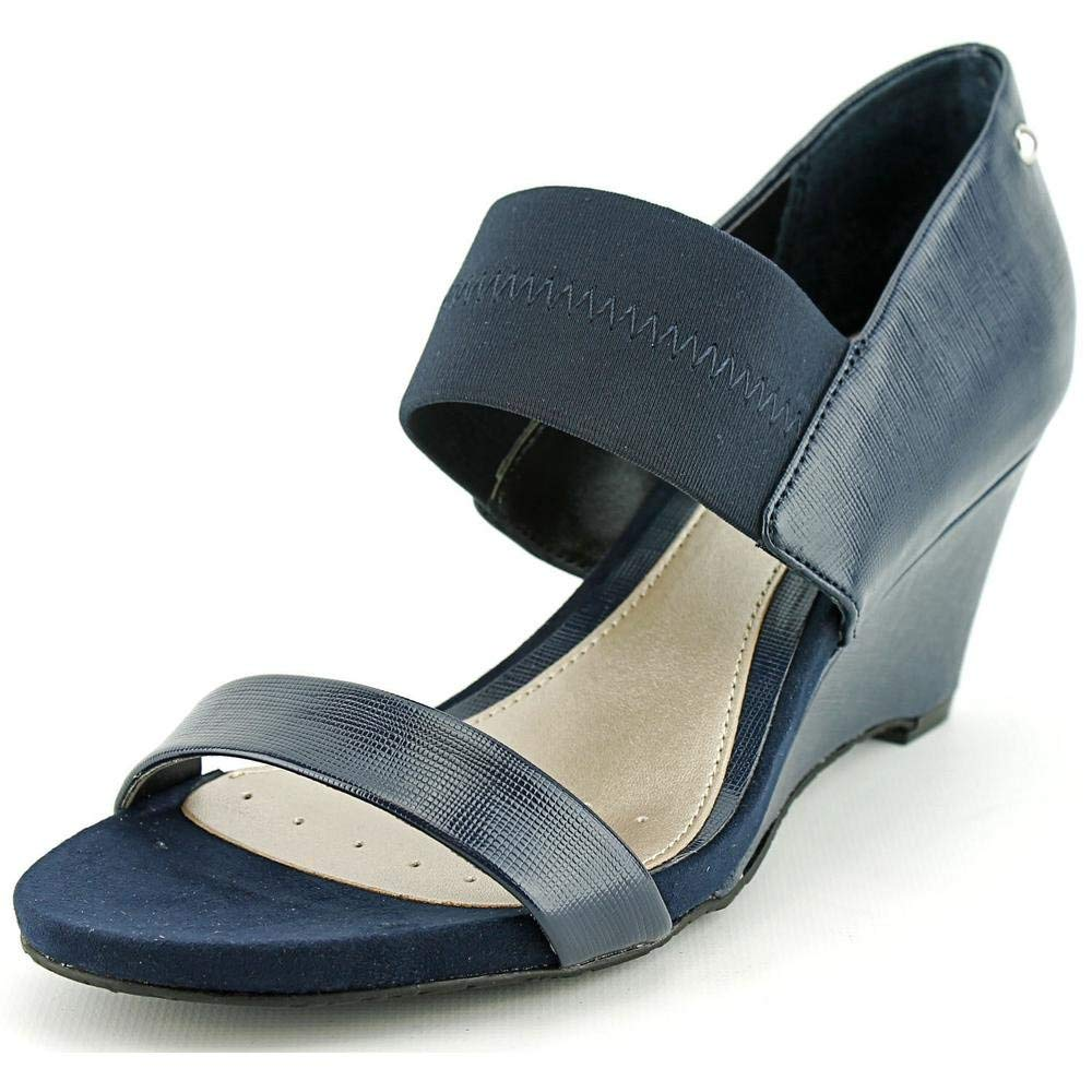 Alfani Women's Maryka Wedge Sandal, Blue, Size 8.5