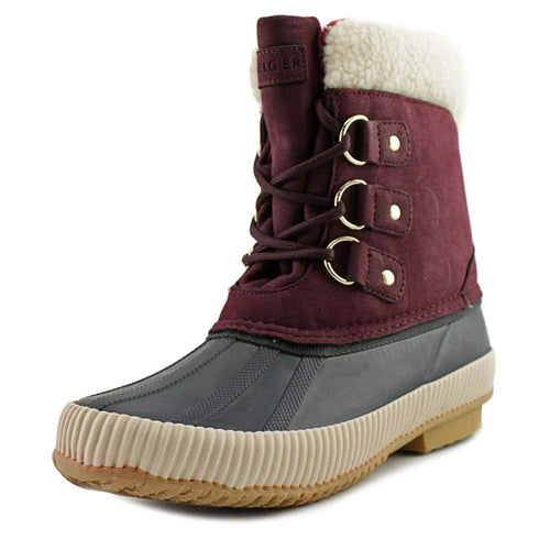 Tommy Hilfiger Womens Ebonie Faux Fur Closed Toe Mid-Calf Cold Weather Boots
