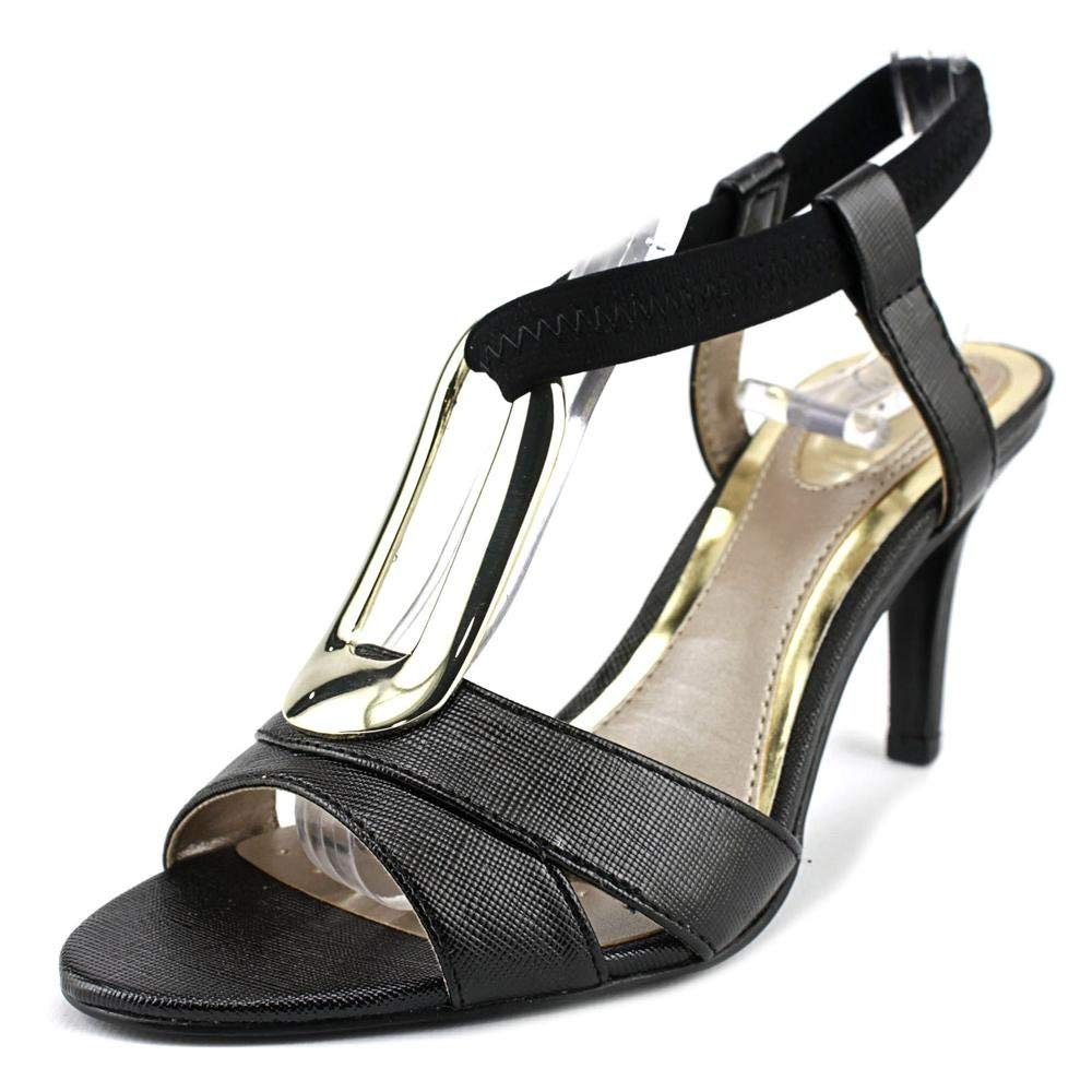 Alfani Destyne Women Open-Toe Canvas Black Slingback Heel