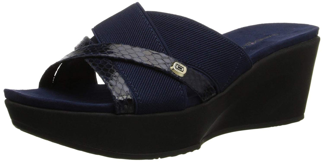Bandolino Women's Donovan Fabric Wedge Sandal
