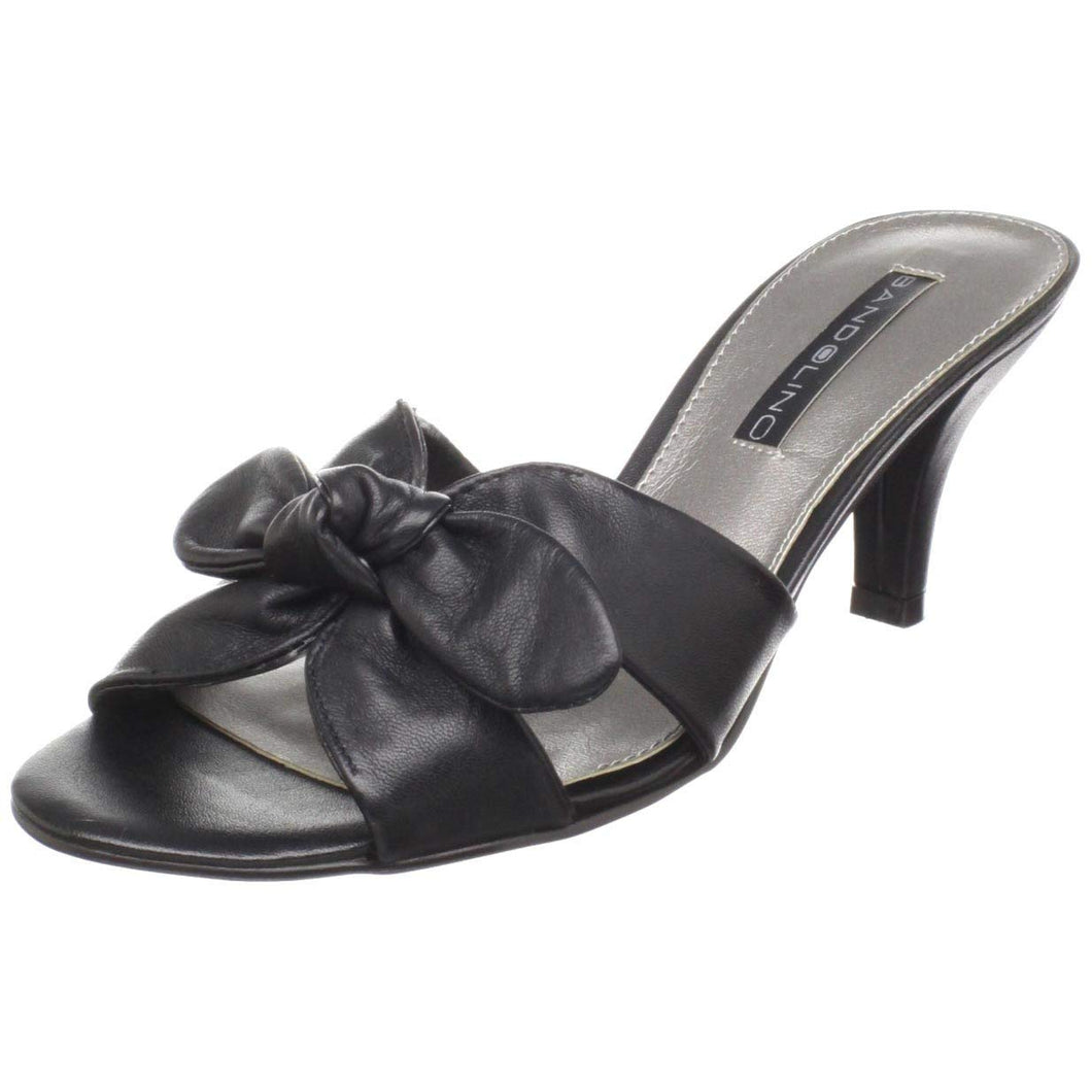Bandolino Women's Quelinda Sandal,Black Leather,9.5 M US