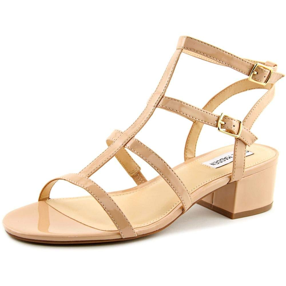 Steve Madden Womens Luccile Open Toe Casual T-Strap Sandals