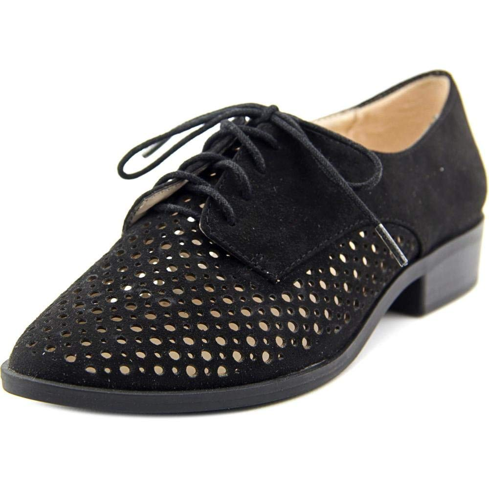 Bar III Women's Gelsey Lace Up Oxford Flats, Black, Size 8.5