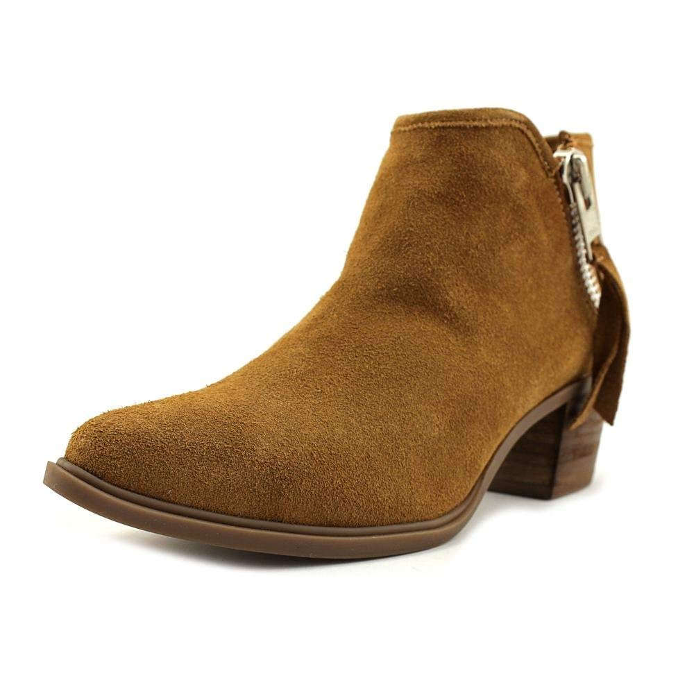 Steve Madden Steven by Doris Pointed-Toe Ankle Booties Camel Suede 5.5 M US