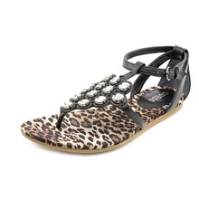 Guess Women's Diena Thong Rhinestone Sandals Size 6.5 M