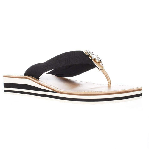 Tommy Hilfiger Rayce Women US 7 Black Wedge Sandal