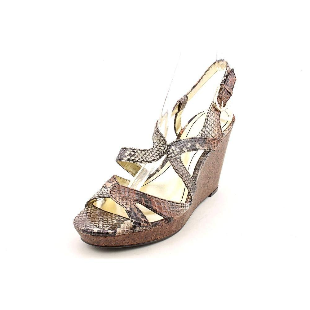 Style & Co Women's Allyssa Wedge Sandals in Camel Python Size 9.5