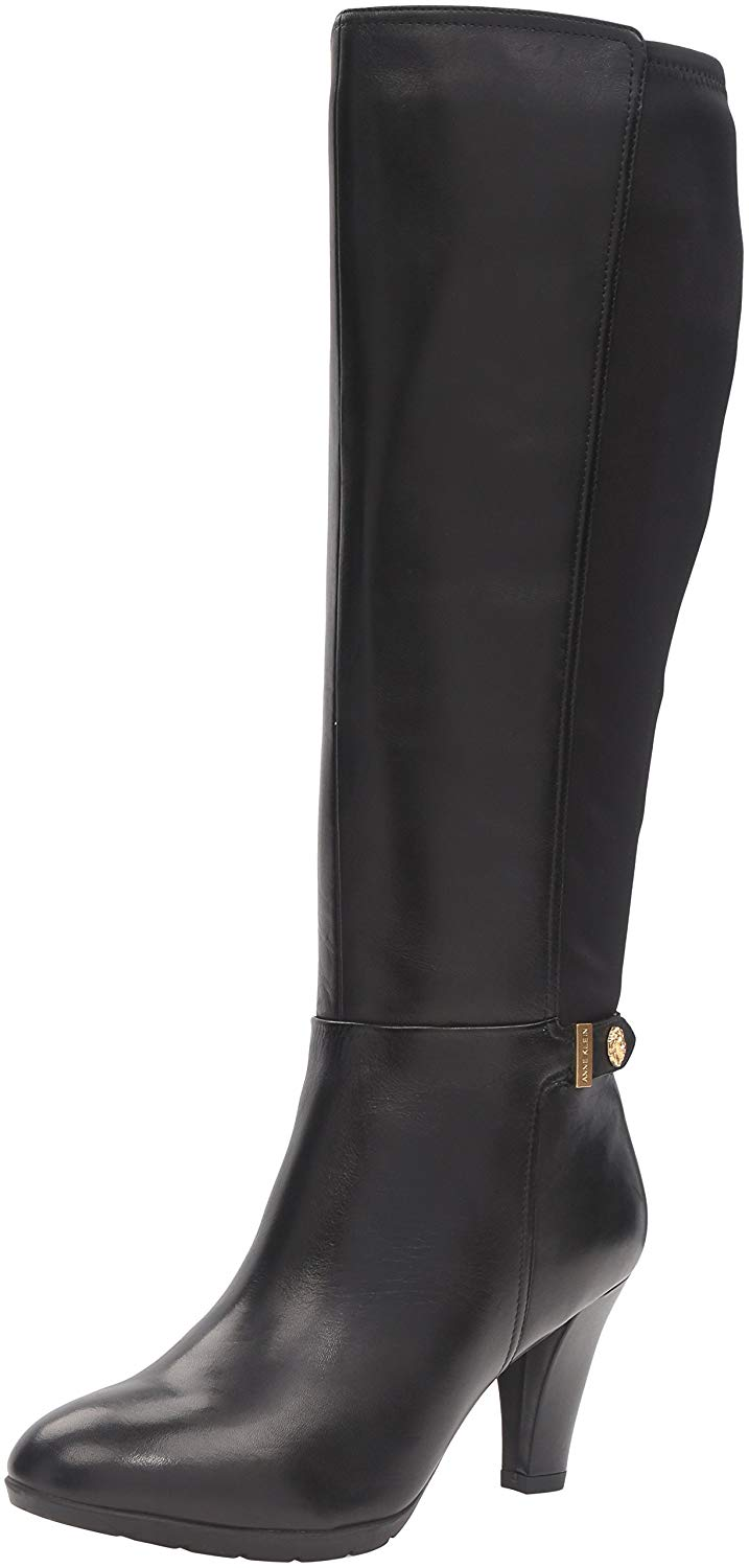 Anne Klein Women's Delray Leather Riding Boot