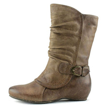 Bare Traps Womens SHELBY Round Toe Mid-Calf Riding Boots,Taupe, Size 8.0