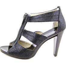 Michael Michael Kors Berkley T Strap Women US 10 Black Peep Toe Heels