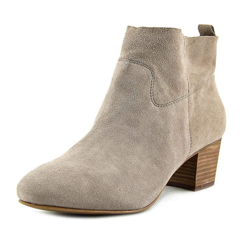Steve Madden Womens Harber Suede Closed Toe Ankle Fashion Bootie Taupe Suede 7.5 M