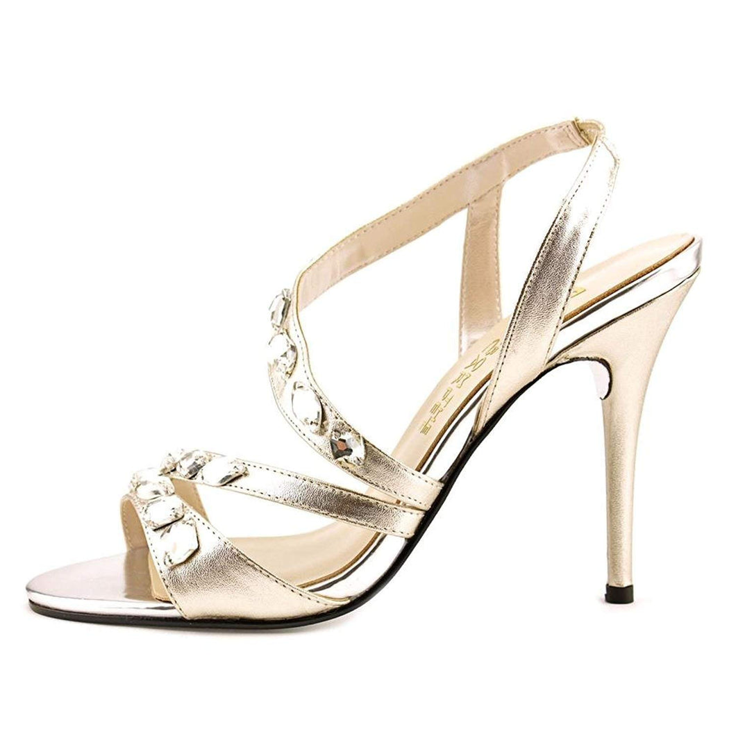 E! Live from The Red Carpet Womens Goldee Open Toe Ankle Strap Classic Pumps