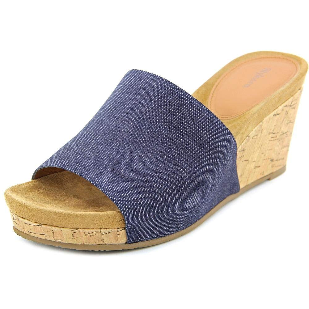 Style Co. Jackeyy Wrapped Wedge Mules Denim (5.5M, Blue)
