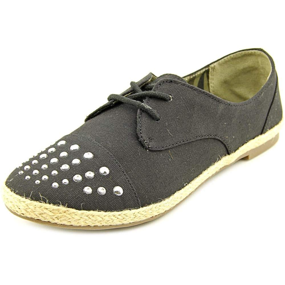Material Girl Women's Shoes Button Oxford Flats in Black Size 7.5