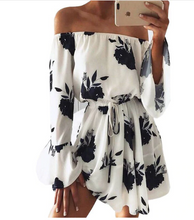 Beach Floral Sexy Boho Off-The-Shoulder Dress*
