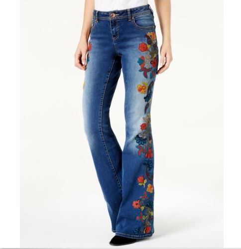 Anna Sui INC Floral Flare Leg Stretch Jeans-4