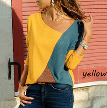 Long Sleeve Patchwork Blouse