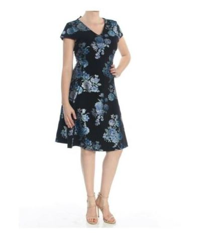 Alfani Black Floral Dress SZ 14
