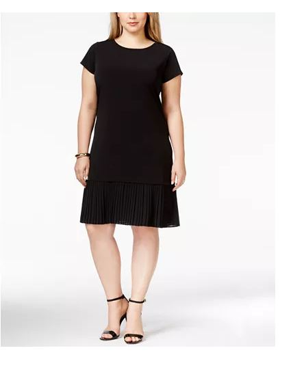 Michael Kors Black Pleated Dress-1X