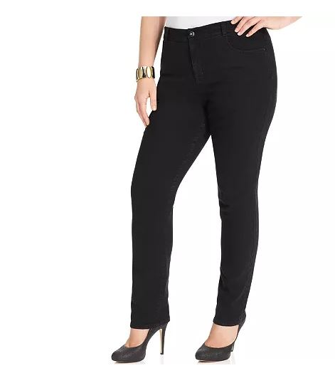 Style & Co Tummy Control Straight-Leg Jeans, 20W
