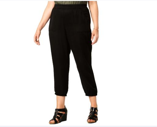 Style & Co. Plus Relaxed Fit Mid-Rise Jogger Pants-4