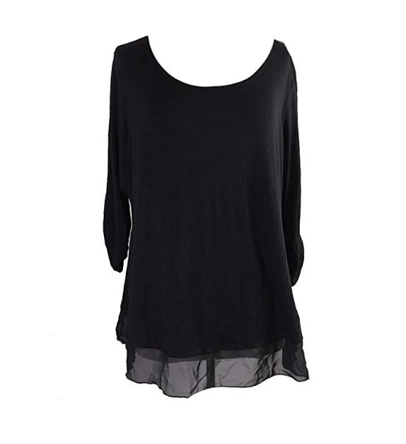 Style&Co. Black Casual Top-3X