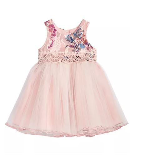 Bonnie Baby Girl Rose Ballerina Dress12M