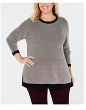Charter Club Plus Size Graphic-Knit Tunic Top, 2X