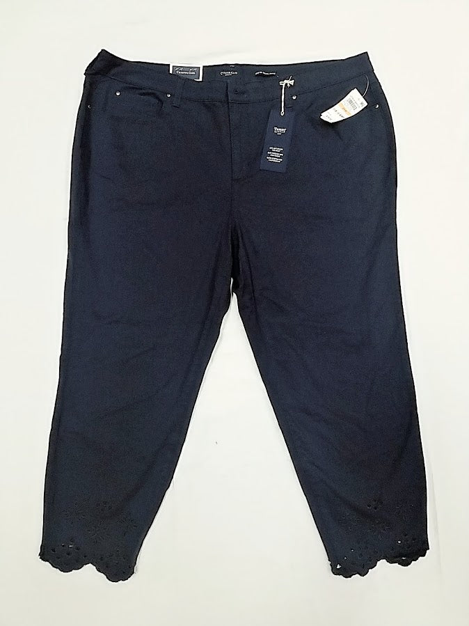 Charter Club Navy Ankle Jeans 24W