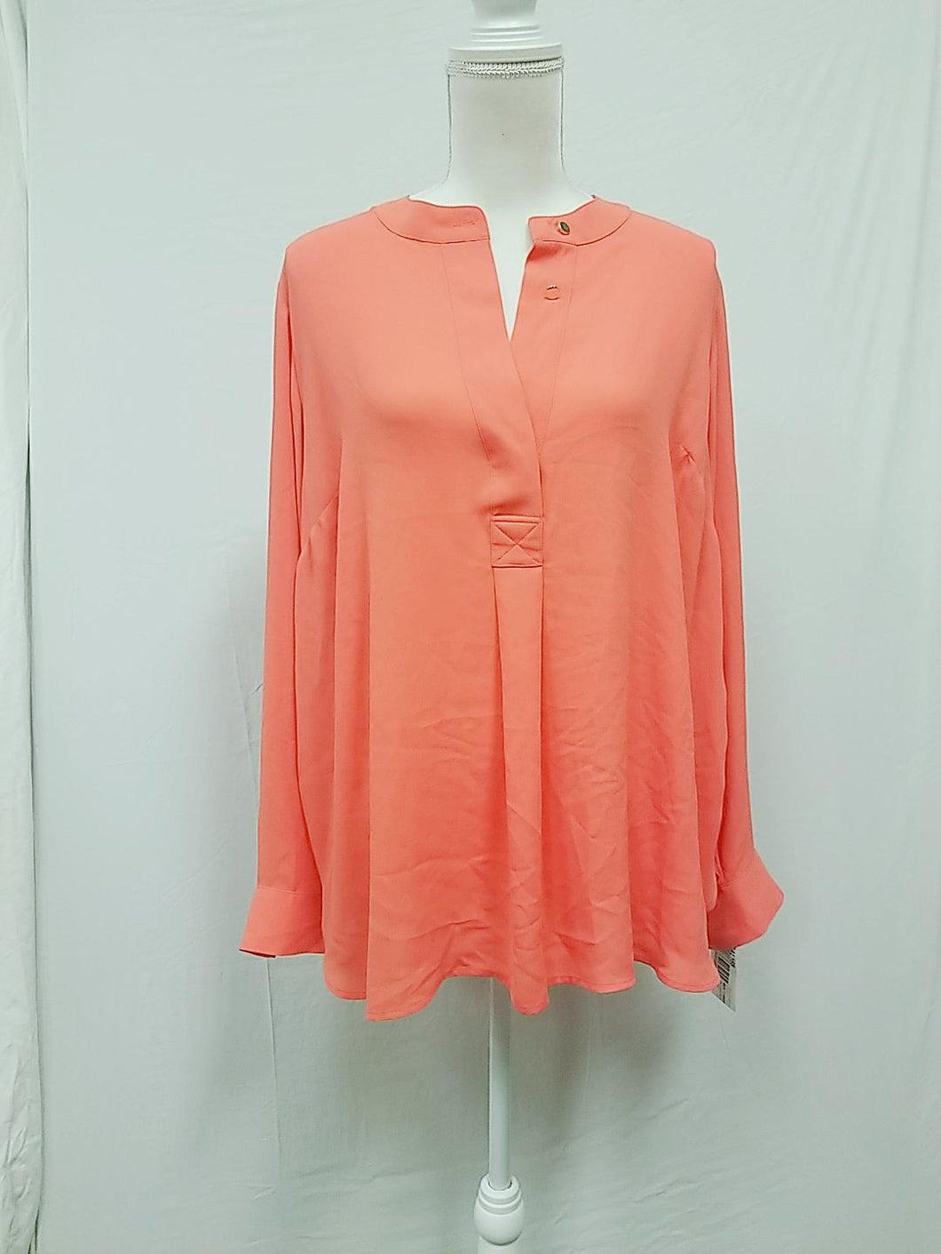 Charter Club coral plus size blouse 1X-NEW