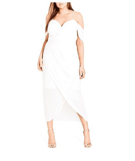 City Chic Women's Plus Size Entwine Maxi Dress 14