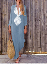 Vintage Long Sleeve Maxi Dress