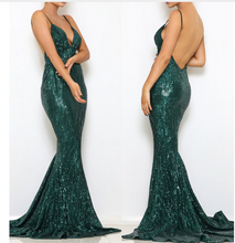 Sequined Long Elegant Maxi Dress