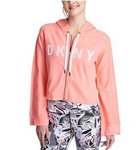 DKNY Sport Wide-Sleeved Logo Cropped Zip Hoodie, XL
