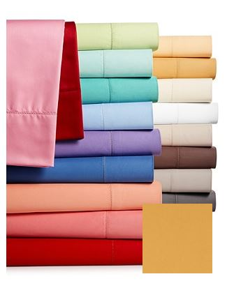 Charter Club Damask Jewel Tones 500 Thread Count Queen Sheet Set