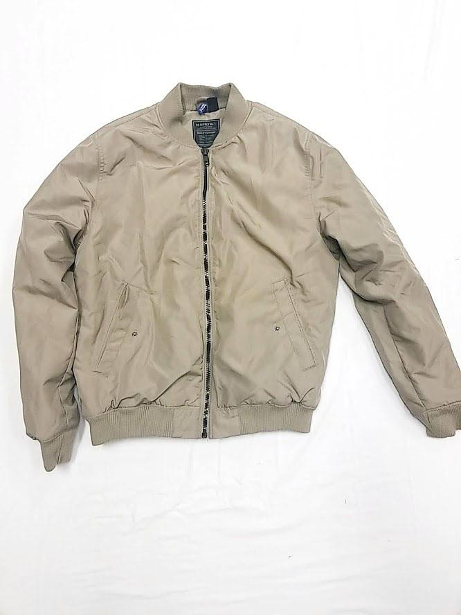H&M Mens Tan Bomber Jacket-Large