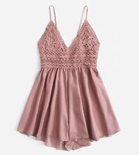 Lace Knot Back Cami Romper*