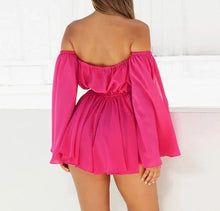 Sexy Off-The-Shoulder Deep V-Neck Romper*